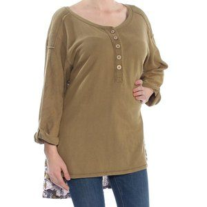 Free People Olive Sweater with Flowy Back